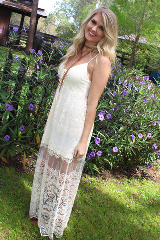 Ever After Ivory Lace Dress