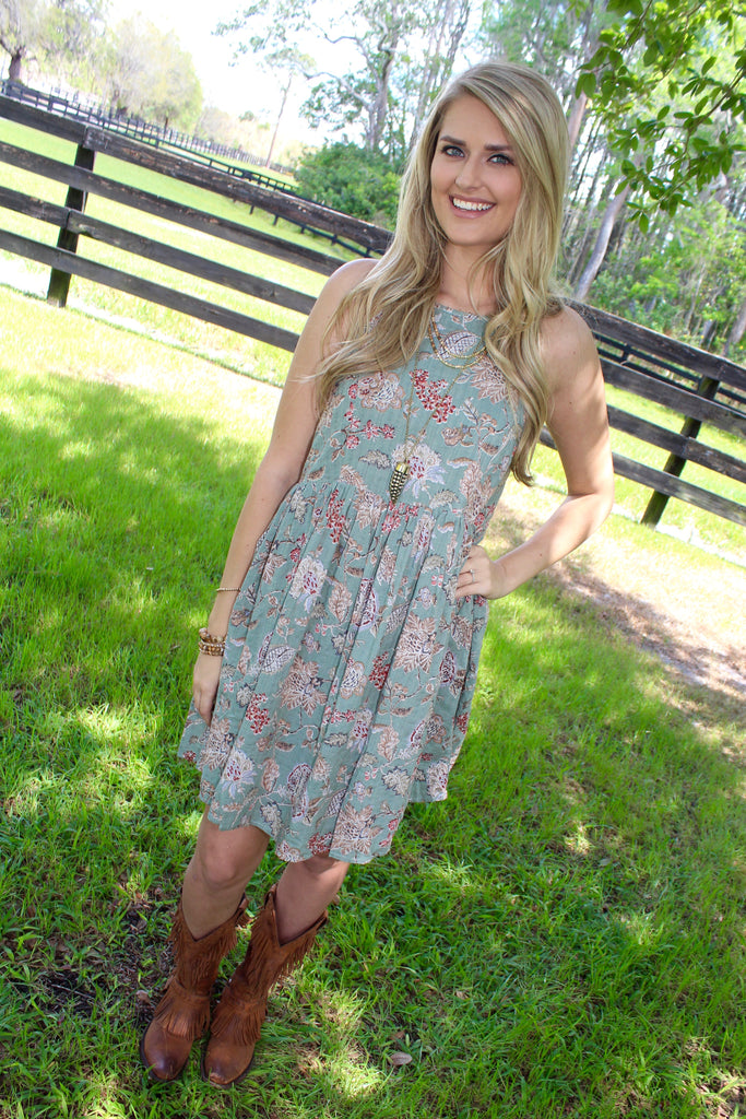 Perfectly Paisley Floral Dress