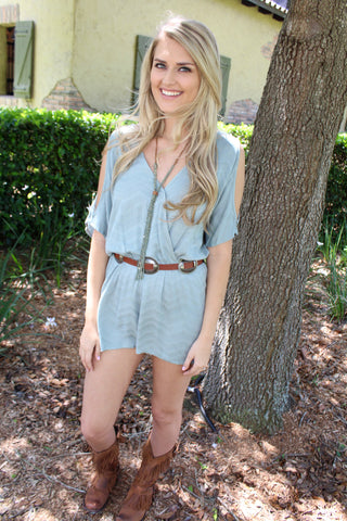 Cold Shoulder Open Romper
