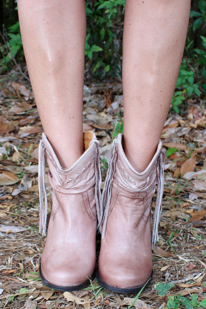 Noe Taupe Booties