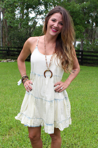 Vintage Denim Mini Dress
