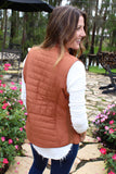 Out of this World Puffer Vest - Caramel