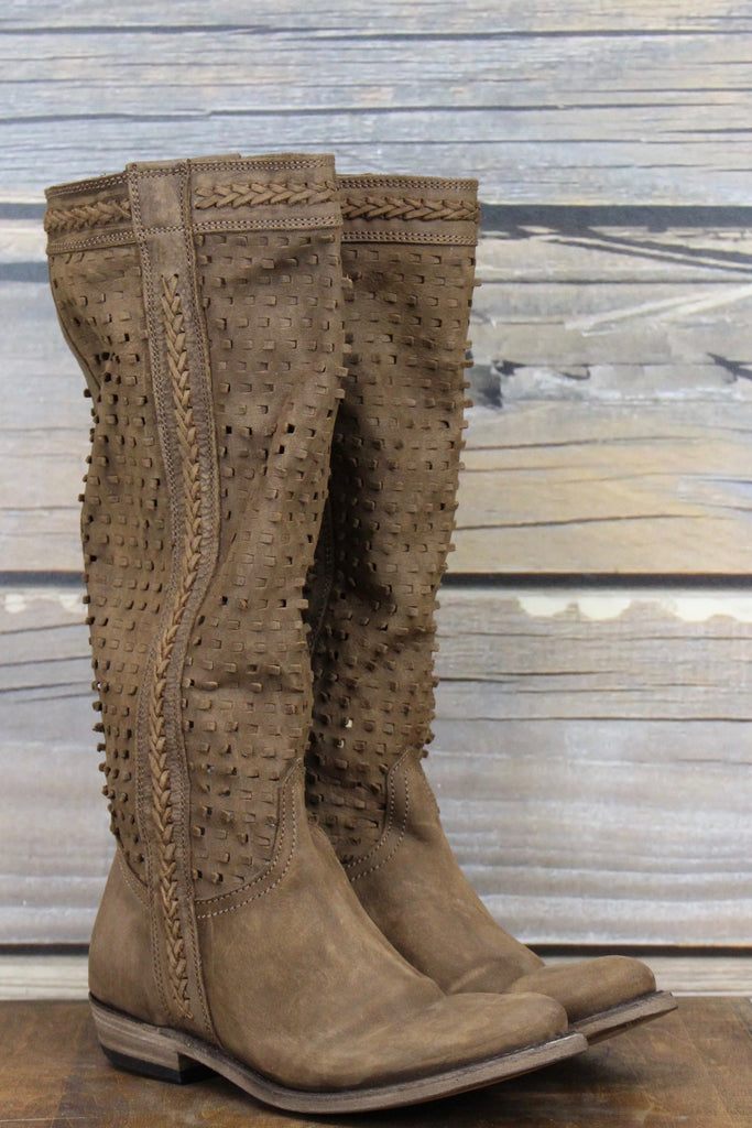 Weaved Riding Boot