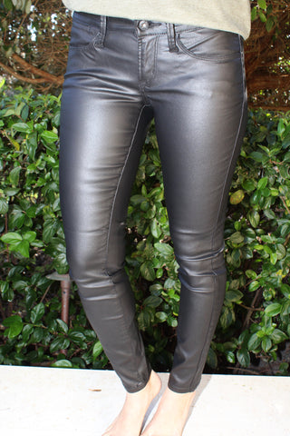 Black Wax Jegging