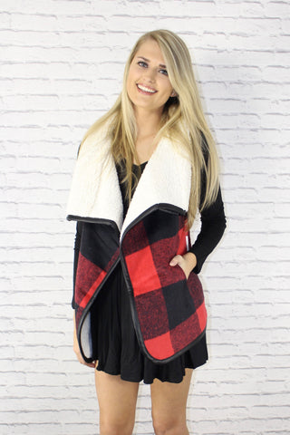Buffalo Plaid Faux Vest