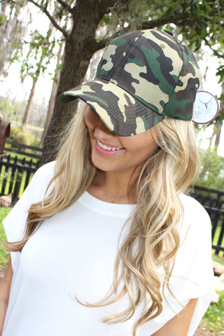 Solid Camo Hat