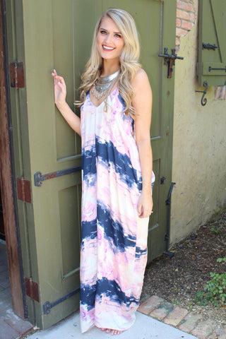 Tie Dye Wonders Dress - Pink