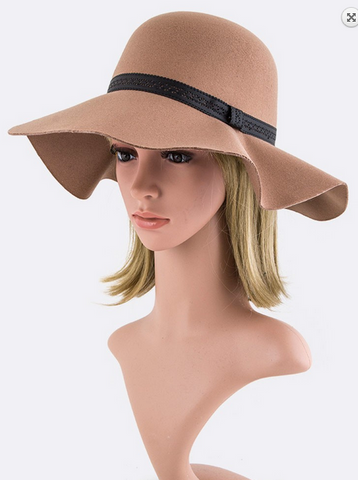 Lace Band Floppy Hat