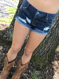 Vintage Distressed Denim Shorts