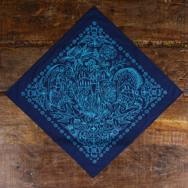Navy Take a Hike Bandana