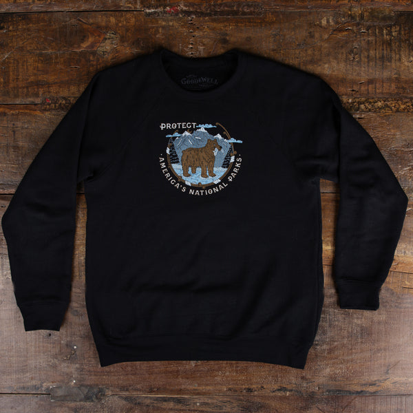 Protect National Parks Crewneck Sweatshirt - Black