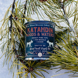 KATAHDIN WOODS & WATERS - snowy pine tips, fir needle & cedar