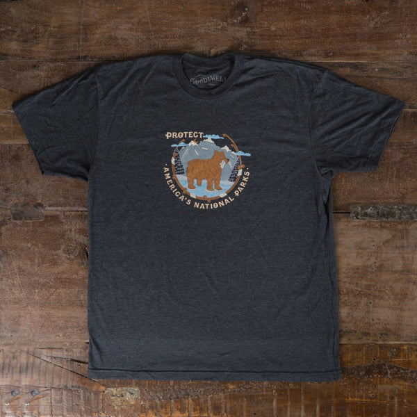 Protect National Parks T-Shirt - Gray