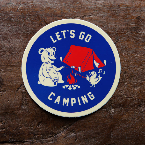Let's Go Camping Vinyl Sticker