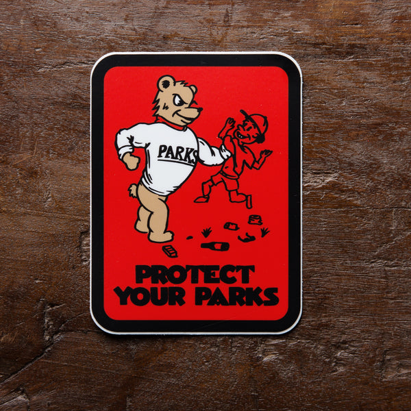 Protect Your Parks Vinyl Sticker