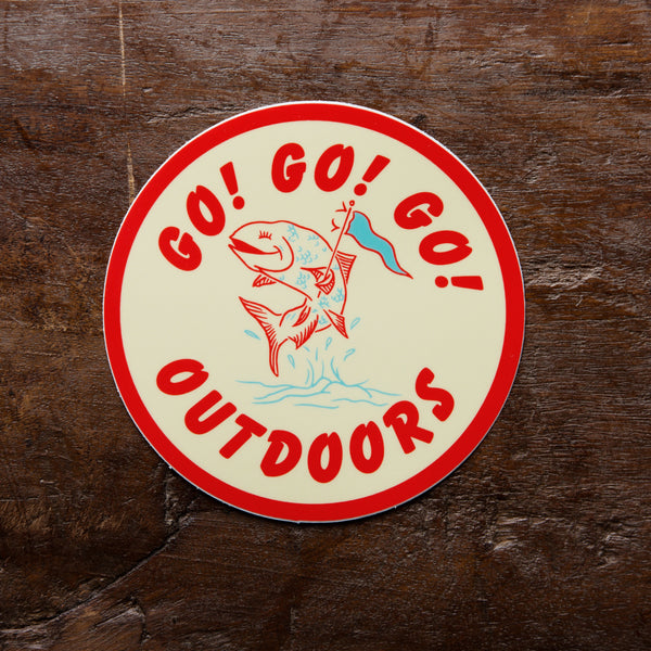 Go! Go! Go! Outdoors Vinyl Sticker