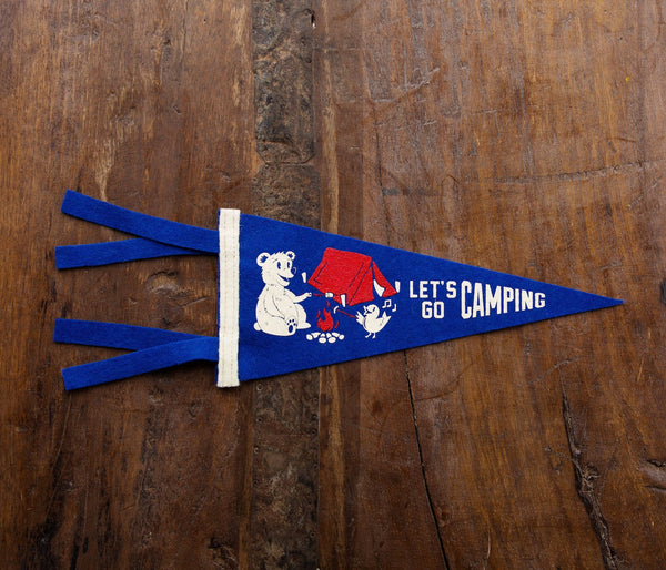 Let's Go Camping Mini Pennant