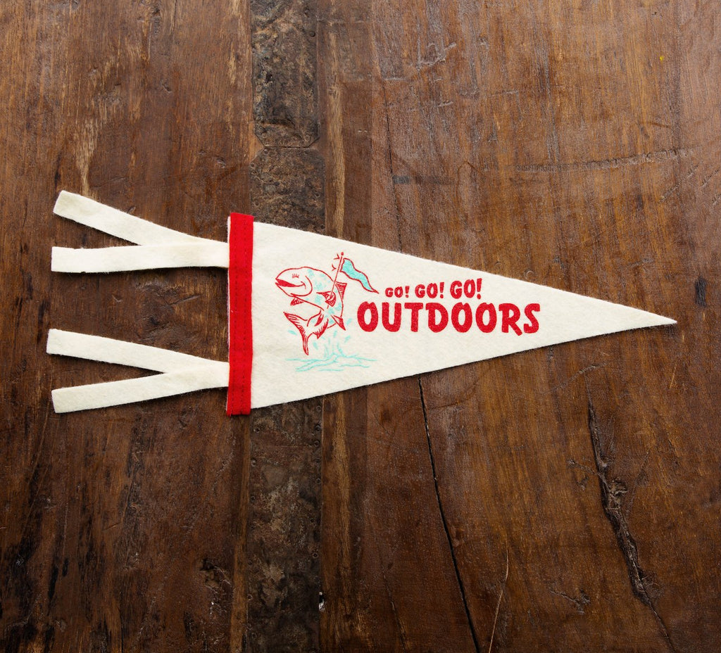 Go! Go! Go! Outdoors Mini Pennant