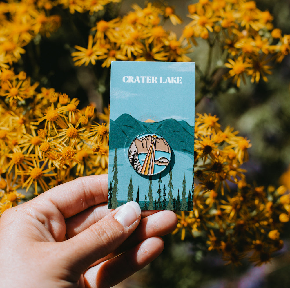 CRATER LAKE Enamel Pin