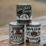 Joyous Yule Crackling Fireplace Holiday Candle