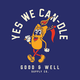 YES WE CAN-DLE! Navy T-Shirt