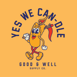 YES WE CAN-DLE! Mustard T-Shirt