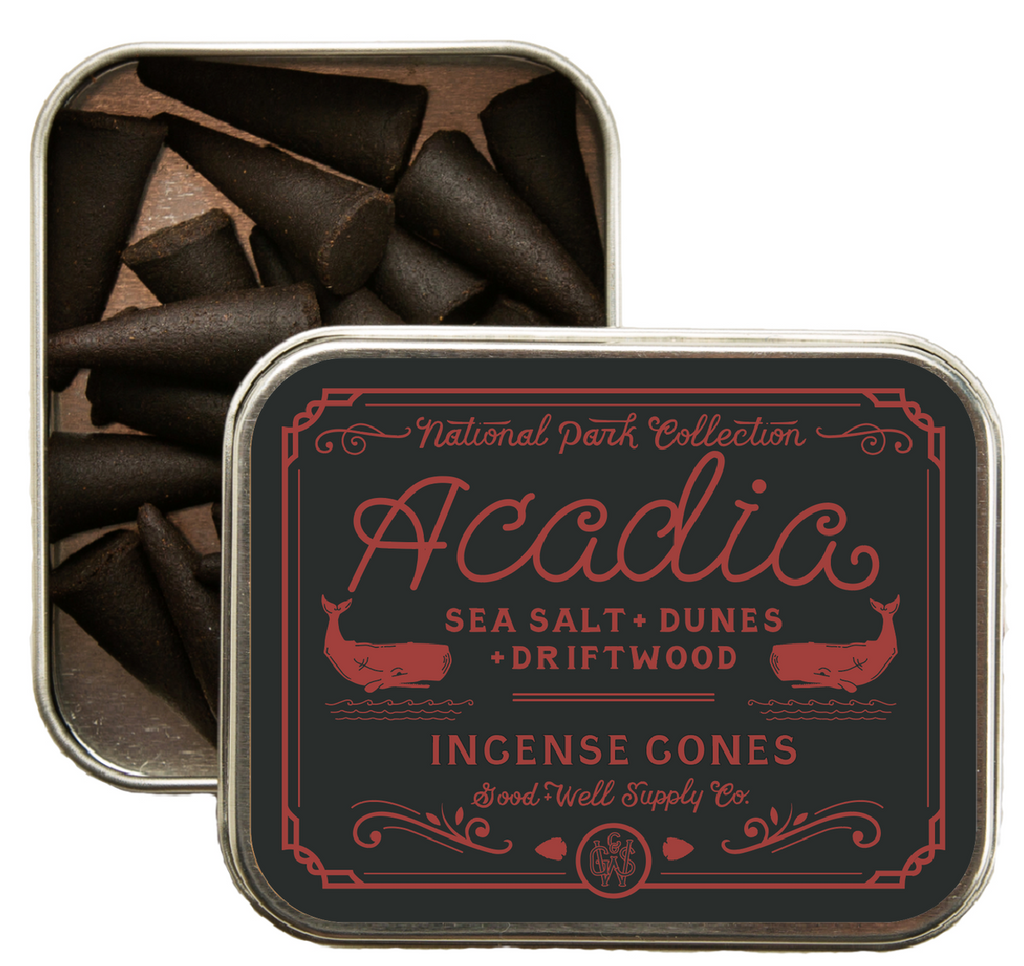 ACADIA Incense - sea salt, dunes + driftwood