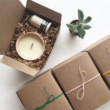 Ceramic Candle + Match Striker Gift Set