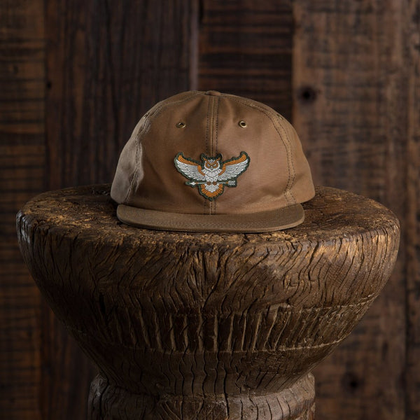 Owl Logo Waxed Canvas Cap - Field Tan