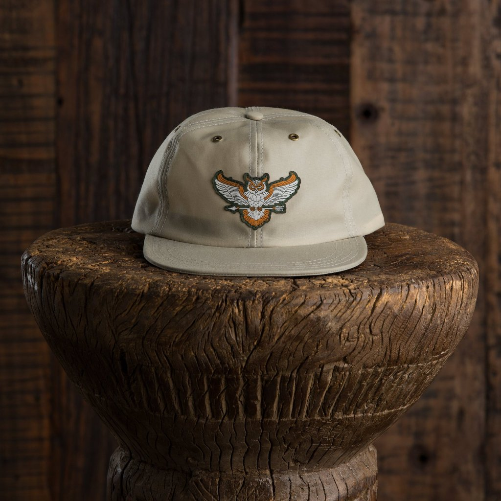 HAT OWL STONE WAXED CANVAS