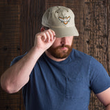 Owl Logo Waxed Canvas Cap - Stone