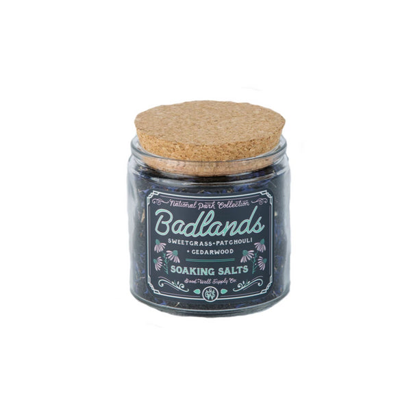 BADLANDS Bath Salts - sweetgrass, patchouli + cedarwood