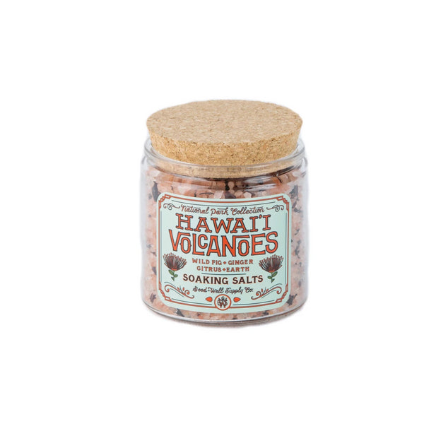 HAWAI'I VOLCANOES Bath Salts - wild fig, ginger, citrus + earth
