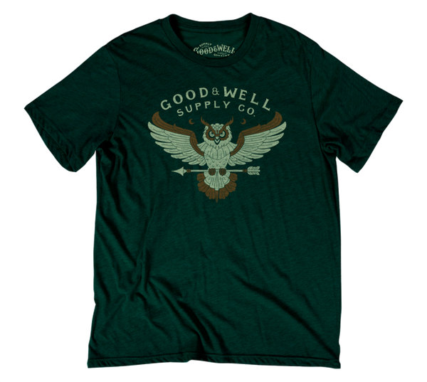 Good + Well Owl T-Shirt