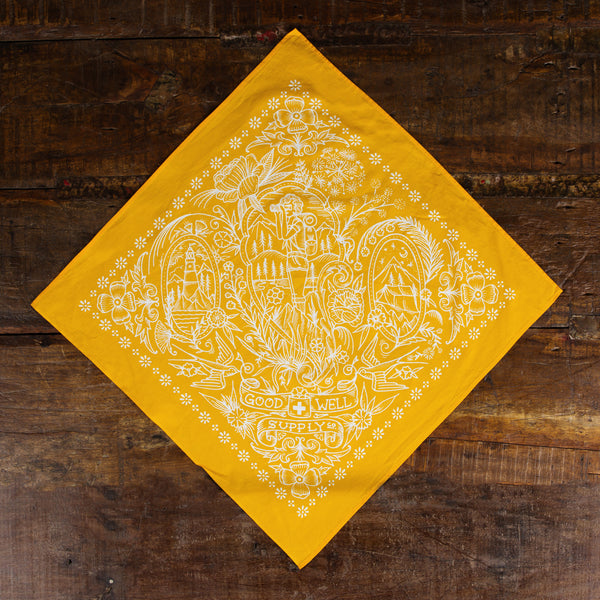 Yellow Take a Hike Bandana