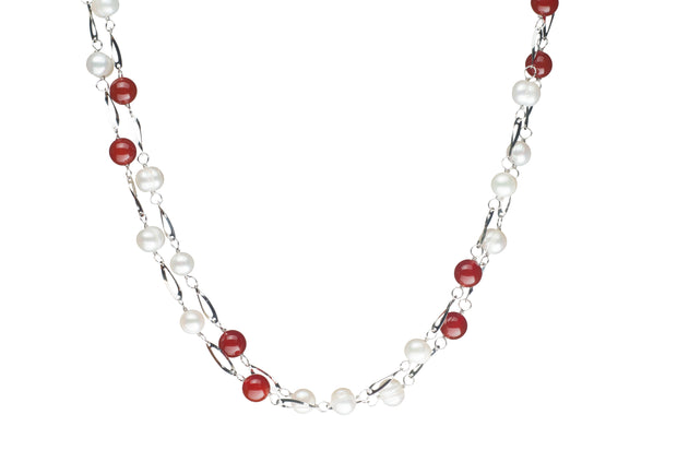 Freshwater Endless Necklace Necklace Pearls by Shari