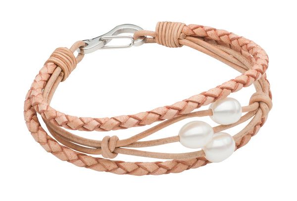 Teton Braided Scatter Bracelet - Tan