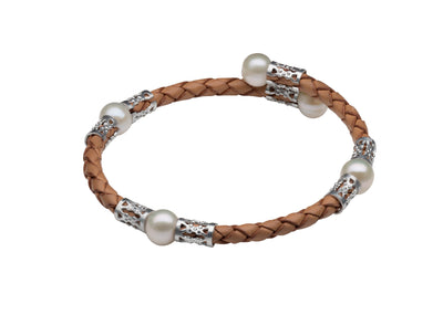 Original Teton Mountaineering Bracelet- Tan Bracelet Pearls by Shari