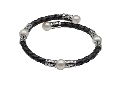 Original Teton Mountaineering Bracelet- Black Bracelet Pearls by Shari