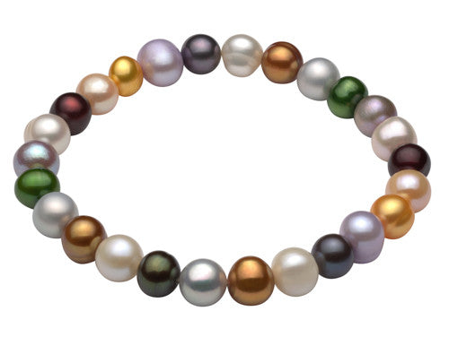 Multi Color Freshwater Stretch Bracelet-Light