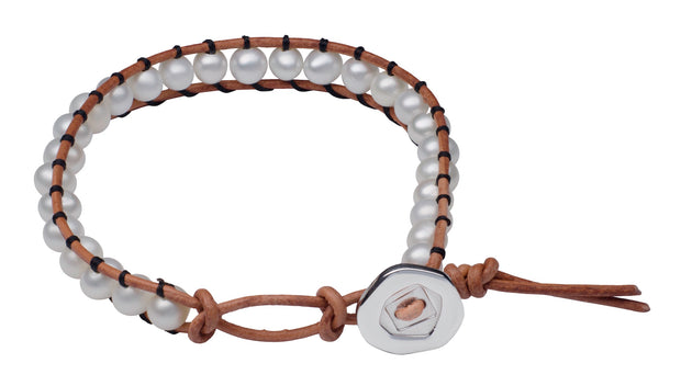 Teton Mountaineering Ladder Bracelet with Button Clasp Bracelet Pearls by Shari