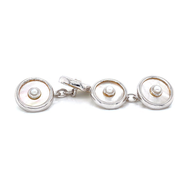 Mother of Pearl and Pearl Cufflinks  Pearls by Shari
