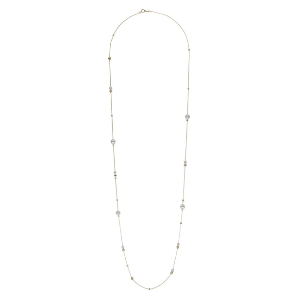Akoya Petite Pearl Asymmetrical Adjustable Necklace Necklace Pearls by Shari