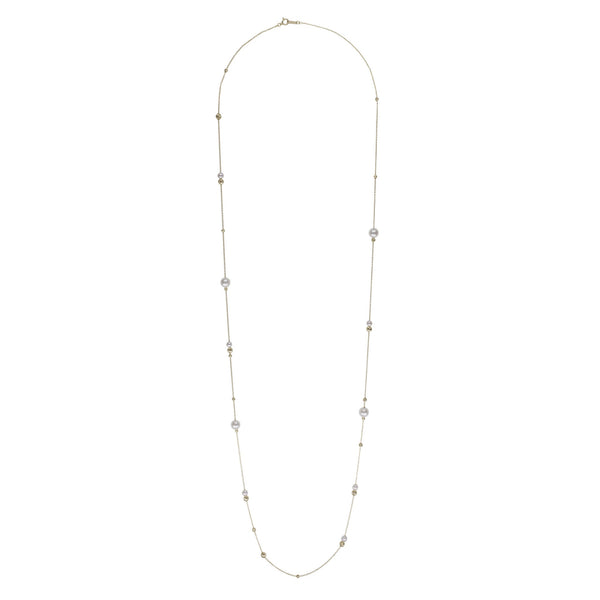 Akoya Petite Pearl Asymmetrical Adjustable Necklace