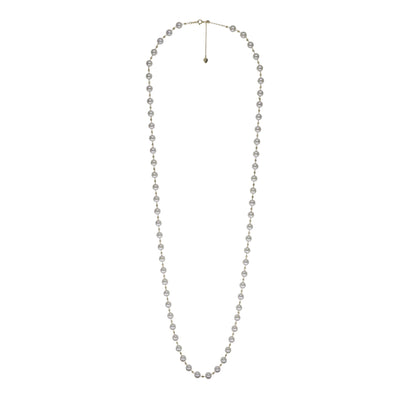 Petite Long Necklace Necklace Pearls by Shari