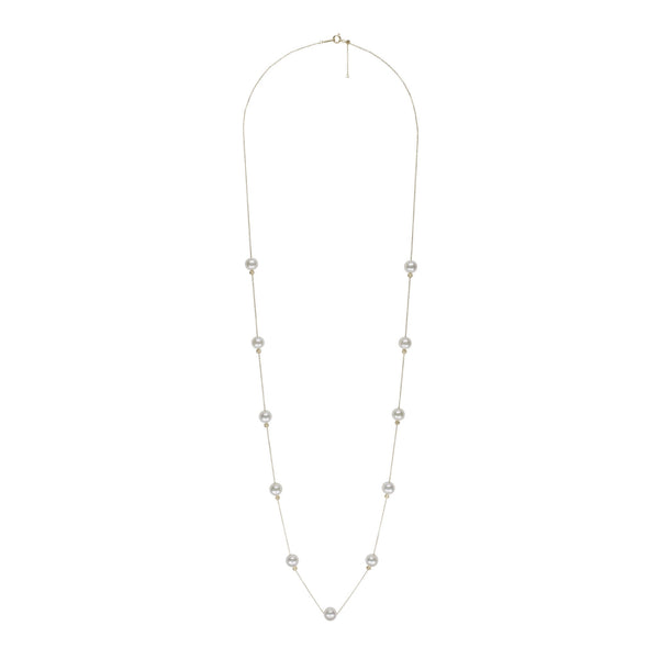Akoya Petite Pearl Symmetrical Adjustable Necklace