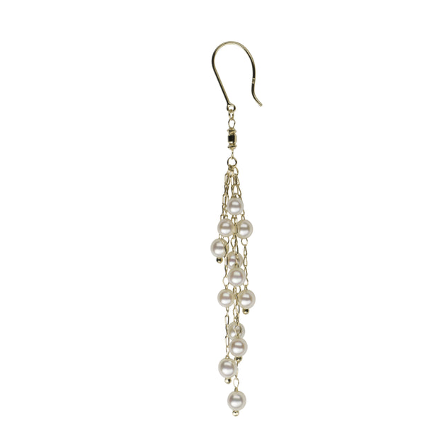 Petite Multi-Strand Dangle Earrings Earring Pearls by Shari