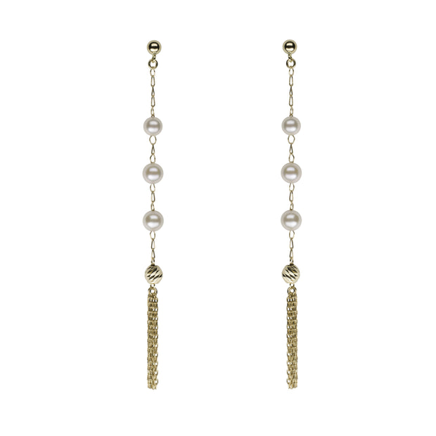 Petite Tassel Earrings Earring Pearls by Shari