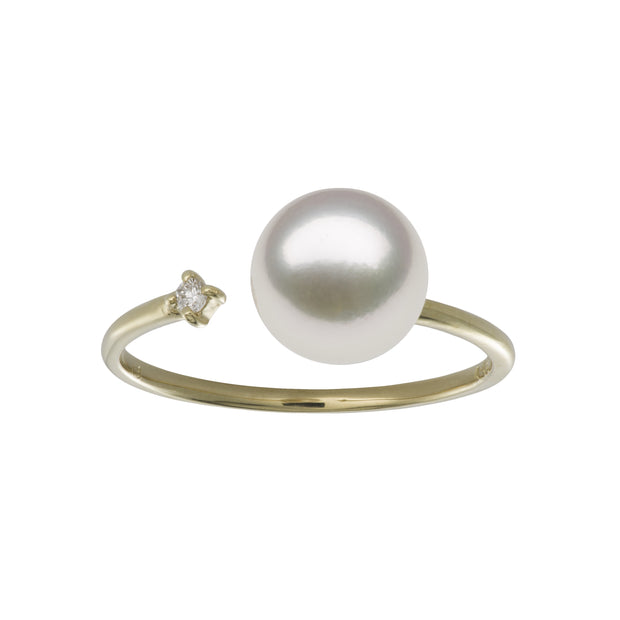 Petite Open Ring Ring Pearls by Shari