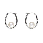 Floating Freshwater Pearl Earrings